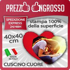 CUSCINO A CUORE 40X40 RETRO COLORATO PERSONALIZZATO CON FOTO, TESTI, LOGHI..