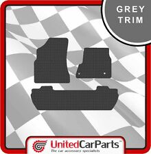 PEUGEOT PARTNER TEPEE (2008-ON) RUBBER CAR MATS WITH GREY TRIM GENUINE UCP 2142