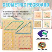 Wooden Geoboard Preschool Toys Mathematical Array Board Child Educational