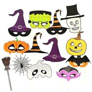 Halloween Props On Sticks - Ready Made Fun Photo Prop Kids Party Decoration