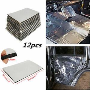 12pcs 5mm Car Firewall Sound Deadener Heat Insulation Deadening Material Mat Pad