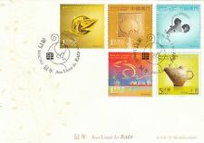 Macau Stamp FDC C291 2008 Year of the Rat + MS MO137951