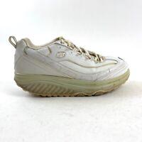 Skechers Shape Ups Womens 8.5 Walking Toning Rocker Shoes White Silver WSL 11800