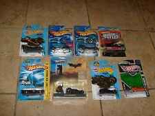 8 BATMAN Hot Wheels 1:50 Diecast Cars Batmobile Lot MOC 1966 Begins & More