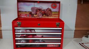 Massey Ferguson themed and created specialist 4 drawer metal toolbox