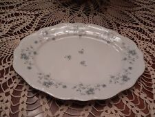 "Johann Haviland Blue Garland China Bavaria Germany 13"" Oval Meat Platter NICE!"
