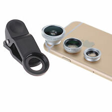 3 in1 Fish Eye+ Wide Angle + Macro Camera Clip-on Lens for  All Smart Phone HTC