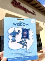 Disney Wisdom Collection Pin Set Genie Aladdin October Limited Release New
