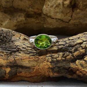 Dazzling Peridot Topaz Gemstone 925 Sterling Silver Handmade Ring All Size