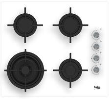 BEKO HILW64122SW 60cm Built-in White glass Kitchen Gas Hob WOK Burner Brand New!