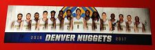 SET OF 4 (AUTOGRAPHED!) DENVER NUGGETS NBA TEAM POSTERS - 2013-2014 to 2016-2017