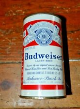 Budweiser 2 Panel Flat Top Beer Can Oklahoma Vanity Lid Great Condition. Sharp!