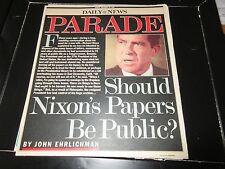 Richard Nixon , New York Daily News Magazine , 11/30/86 , Nixon's Papers Article