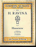 H. Ravina - Historiette Op. 71 ~ alte, übergroße Noten, Piano und Violine