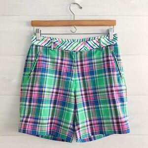 Lady Hagen - Bright plaid golf shorts, sz 4