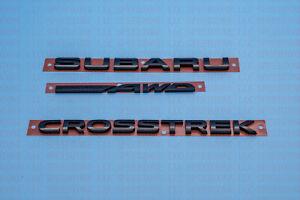 2013-2022 Subaru Crosstrek Rear Tailgate Letter Marker SET 93079FJ230 93079FJ220