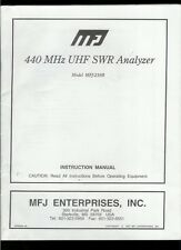 Rare Factory MFJ 219B 440 MHz UHF SWR Analyzer Owner's Manual With Schematic