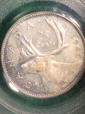 1948 SILVER QUARTER 25 CENTS CANADA MS 64 PCGS!