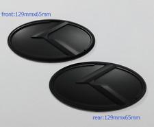 Black K Logo Emblem Badge 2pcs (Front+Rear) for KIA new Forte YD K3 2014-2015