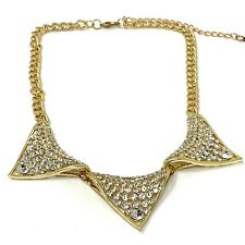 NEW Gold Fashion Jewellery Necklace Costume Jewellery with Diamante