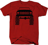 1980's 90's Ford Bronco Lifted Mud Tires Truck  Color T-Shirt