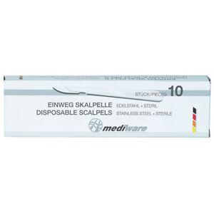 10 x Mediware Einweg Einmalskalpell Skalpell steril einzeln verpackt