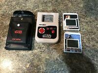 Vintage Star Wars Video Wizard Darth Vader Leia Game 2 Games Lot  Case Micro