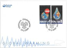 FAROE ISLANDS F.D.C.23/2/2009 SG 580/1; GLOBAL WARMING AWARENESS CAMPAIGN.