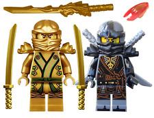 ☀️KID'S LEGO NINJAGO GOLDEN NINJA LLOYD & COLE MINIFIGURE SET & DRAGON SWORD