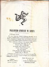 CC740-SICILIA-RIVOLUZIONE 1848-PALERMO SUI DISERTORI