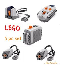 ☀️LEGO Technic Power Functions M Motor Battery IR Remote Receiver 5 Pc SET New