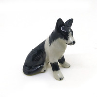 ceramic crocodile statue dollhouse figurines porcelain animal vintage miniature