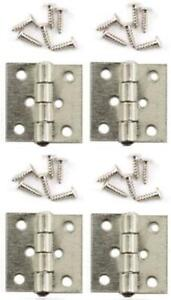Dolls House Satin Nickel Butt Hinges Miniature Fixtures & Fittings DIY Accessory