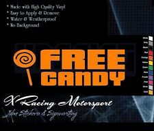 FREE CANDY FUNNY JDM STICKER / DECAL 2.28 * TEAM XRACING *