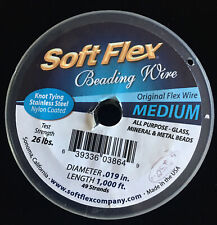 Soft Flex .019in, 1,000 ft Best Beading Wire 49 Strands part used LARGE Spool