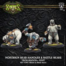 Hordes Trollbloods Northkin Bear Handler & Battle Bears PIP71109 NIB