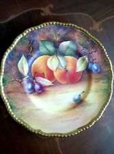 More details for stunning coalport hand painted cabinet plate by anthony baggott