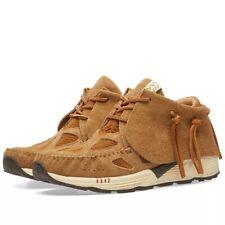 NIB Visvim FBT Prime Runners Suede Sneakers (Light BRown) RRP $1300