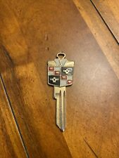 Very Old Vintage Gold Plated Studebaker Crest Key Blank