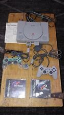 Sony PlayStation 1 PS1 Console Bundle SCPH-7001 w/2 Games & 2 Controllers