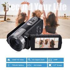"""FULL HD 1080P 24MP 3.0"""" TFT LCD 16X ZOOM Digital Video DV Camcorder Camera W7J7"""