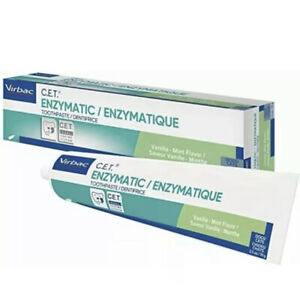 Virbac C.E.T. Enzymatic Toothpaste Vanilla Mint Dogs & Cats 2.5 oz EXP 05-2023
