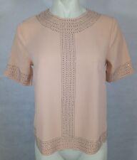 Ladies H&M short sleeved studded top size UK 8 EUR 34