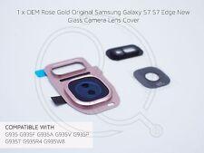 Oro Rosa OEM Samsung Galaxy S7 S7 Cubierta de Lente de cámara de vidrio de repuesto EDGE