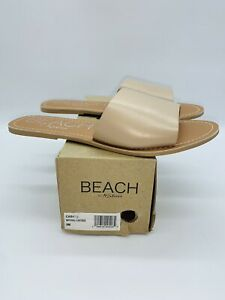 Beach By Matisse Women's Cabana Slide Flat Sandal Natural Leather US 9M
