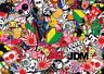 x2 JDM sticker bombing sheets A4 sticker bomb decal Euro style drift