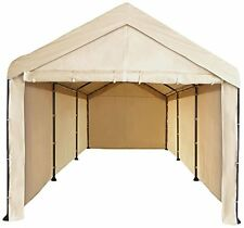 Sidewall Canopy Garage 10x20 Carport Car Shelter Heavy Duty Tent Cover- No Frame