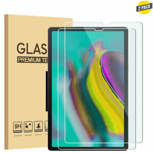 2PCS HD Clear Tempered Glass Screen Protector For Samsung Galaxy Tab Tablet