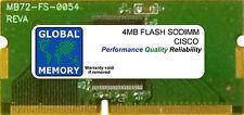 4MB FLASH SODIMM CISCO 871/871W/876 ADSL/877 ADSL/878/878W ROUTERS ( MEM870-4F )
