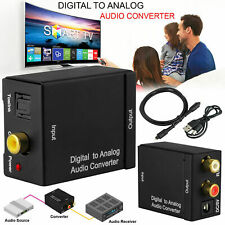 Digital Audio Converter Optical SPDIF Toslink Coaxial to Analog RCA L/R Adapter